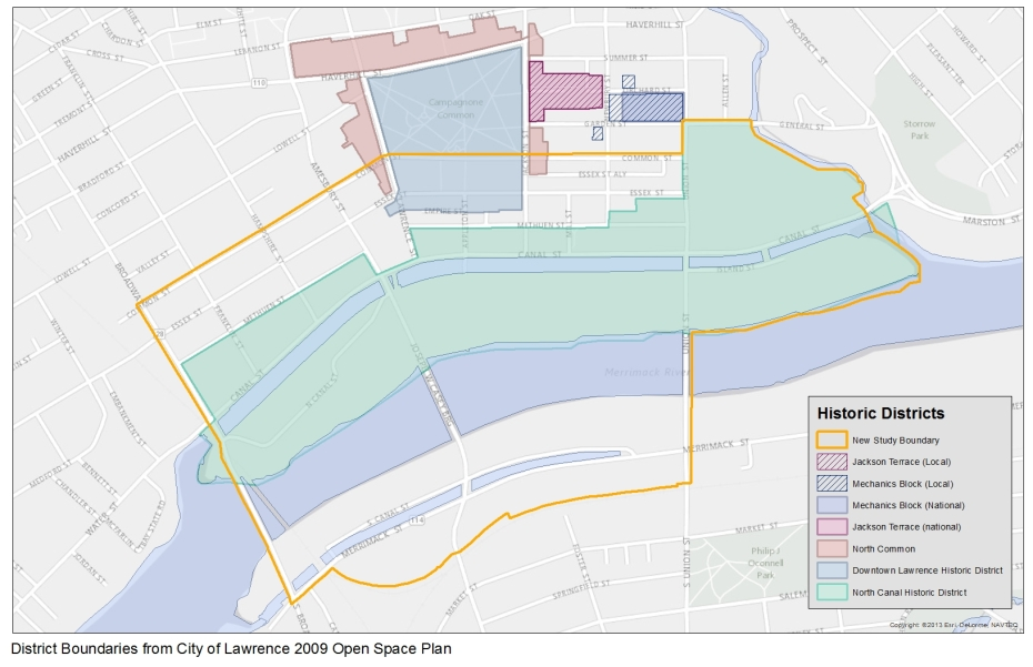New Boundary and Historic Districts